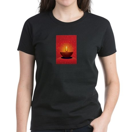 Diwali Festival of Lights Women's Dark T-Shirt