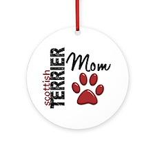 Scottish Terrier Mom 2 Ornament (Round)