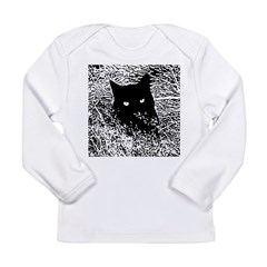 Cat in the Grass Long Sleeve Infant T-Shirt