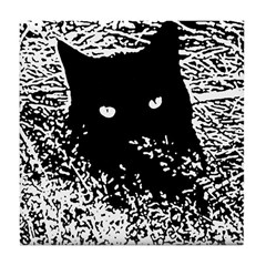 Cat in the Grass Tile Coaster