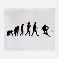 Downhill Skiing Throw Blanket