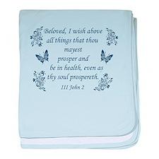 Inspirational Bible verses baby blanket