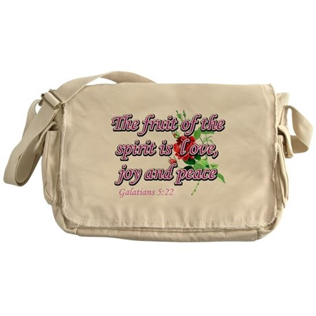 Inspirational Christian designs Messenger Bag