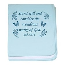 Inspirational Christian quotes baby blanket
