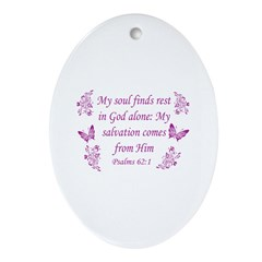 Inspirational Bible Quotes Ornament (Oval)
