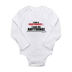 I am a cartoonist Long Sleeve Infant Bodysuit