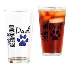 Scottish Deerhound Dad 2 Drinking Glass