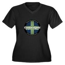 Danneskjold Women's Plus Size V-Neck Dark T-Shirt