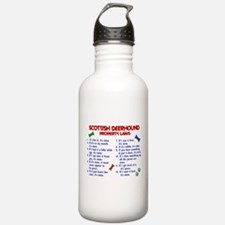 Scottish Deerhound Property Laws 2 Water Bottle