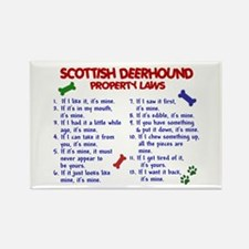 Scottish Deerhound Property Laws 2 Rectangle Magne