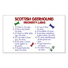 Scottish Deerhound Property Laws 2 Decal