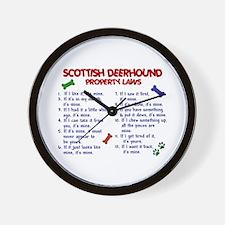 Scottish Deerhound Property Laws 2 Wall Clock