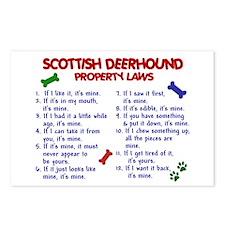 Scottish Deerhound Property Laws 2 Postcards (Pack
