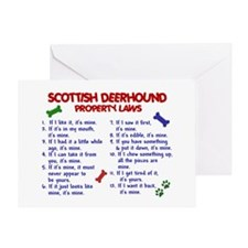 Scottish Deerhound Property Laws 2 Greeting Card