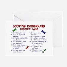 Scottish Deerhound Property Laws 2 Greeting Card