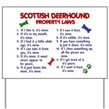 Scottish Deerhound Property Laws 2 Yard Sign