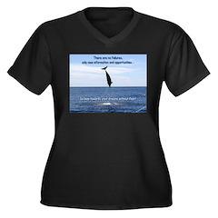 No Failure Women's Plus Size V-Neck Dark T-Shirt