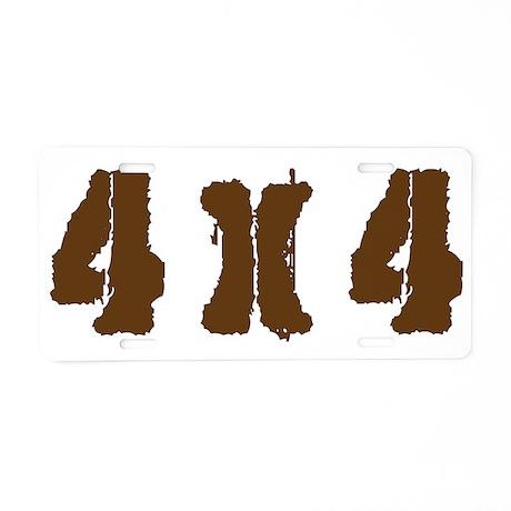 Off Road 4 x 4 Aluminum License Plate