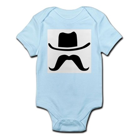 Hat & Mustache Infant Bodysuit