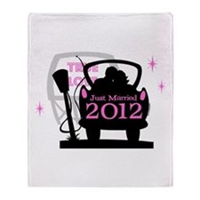 Drive In Newlyweds 2012 Throw Blanket