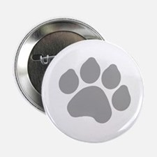 """Silver Paw Print Design 2.25"""" Button (100 pack)"""