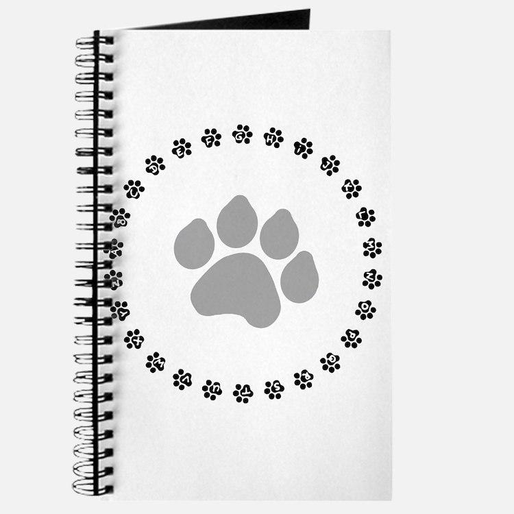 Silver Paw Print Design Journal