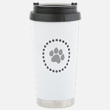 Silver Paw Print Design Travel Mug