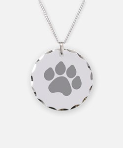 Silver Paw Print Design Necklace