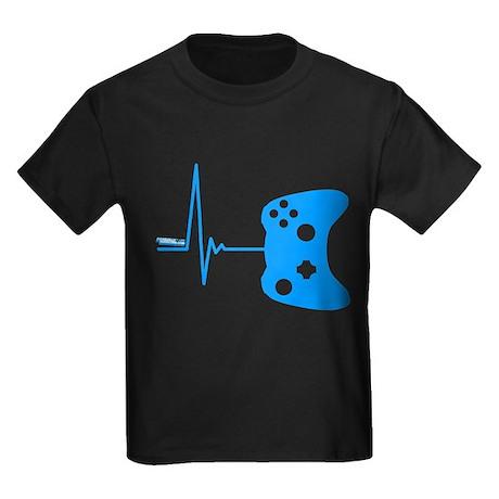 Gamers Heart Beat Kids Dark T-Shirt