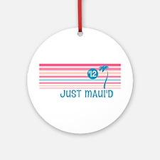 Stripe Just Maui'd '12 Ornament (Round)