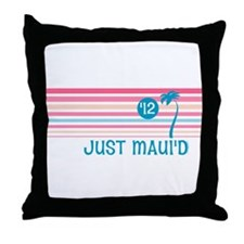 Stripe Just Maui'd '12 Throw Pillow