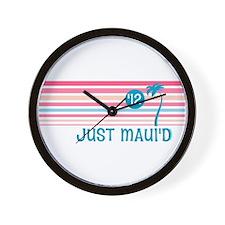 Stripe Just Maui'd '12 Wall Clock