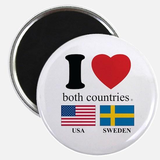 """USA-SWEDEN 2.25"""" Magnet (10 pack)"""