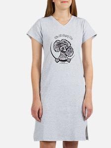 Gray Poodle IAAM Women's Nightshirt