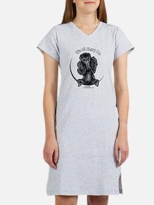 Black Standard Poodle IAAM Women's Nightshirt