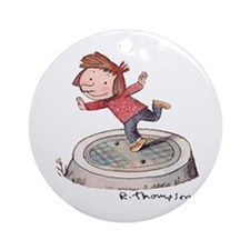 Cute Alice otterloop Ornament (Round)
