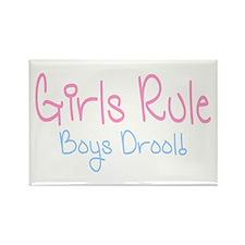 Girls Rule, Boys Drool! Rectangle Magnet