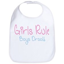 Girls Rule, Boys Drool! Bib
