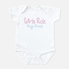 Girls Rule, Boys Drool! Infant Creeper