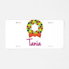 Christmas Wreath Tania Aluminum License Plate
