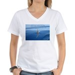 Connect With Spirit Women's V-Neck T-Shirt