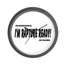 Rapture Ready Wall Clock