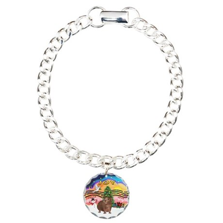 XmasMusic#2-GuineaPig#3 Charm Bracelet, One Charm
