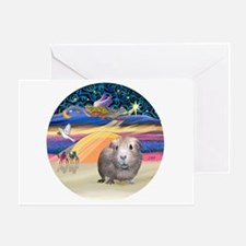 XmasStar-GuineaPig #2 Greeting Card