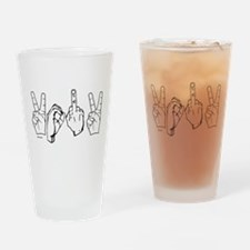 Funny New years Drinking Glass