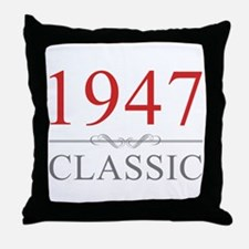 1947 Classic Throw Pillow
