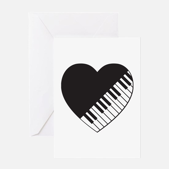 Piano Heart Greeting Card