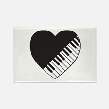 Piano Heart Rectangle Magnet