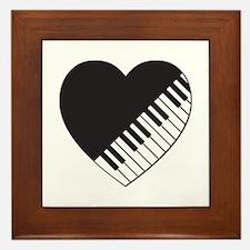 Piano Heart Framed Tile