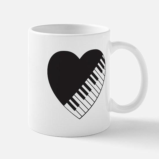 Piano Heart Mug